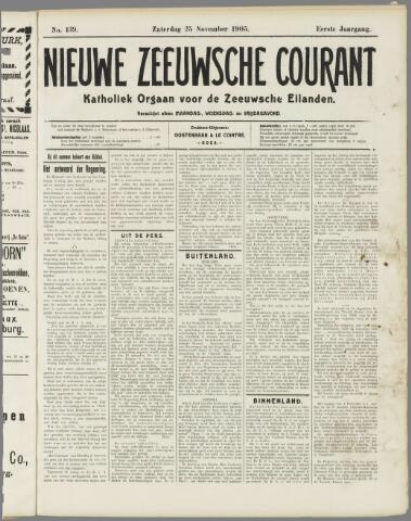 Nieuwe Zeeuwsche Courant 1905-11-25