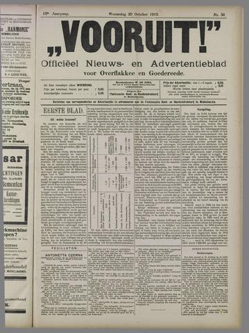 """""""Vooruit!""""Officieel Nieuws- en Advertentieblad voor Overflakkee en Goedereede 1913-10-29"""