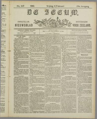 De Zeeuw. Christelijk-historisch nieuwsblad voor Zeeland 1910-02-04
