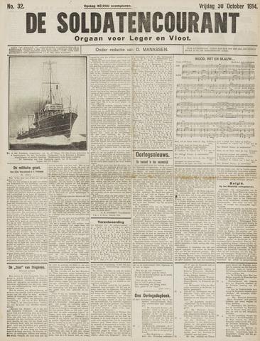 De Soldatencourant. Orgaan voor Leger en Vloot 1914-10-30