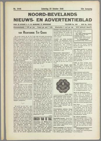 Noord-Bevelands Nieuws- en advertentieblad 1949-10-22