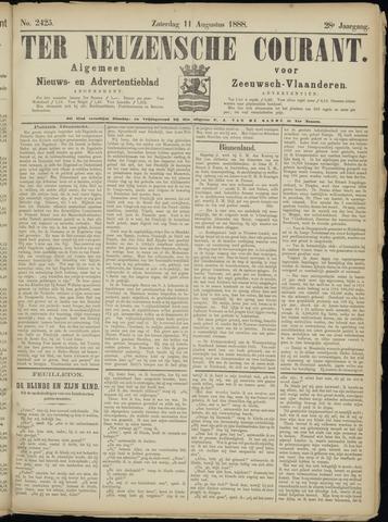 Ter Neuzensche Courant. Algemeen Nieuws- en Advertentieblad voor Zeeuwsch-Vlaanderen / Neuzensche Courant ... (idem) / (Algemeen) nieuws en advertentieblad voor Zeeuwsch-Vlaanderen 1888-08-11