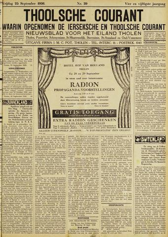 Ierseksche en Thoolsche Courant 1936-09-25