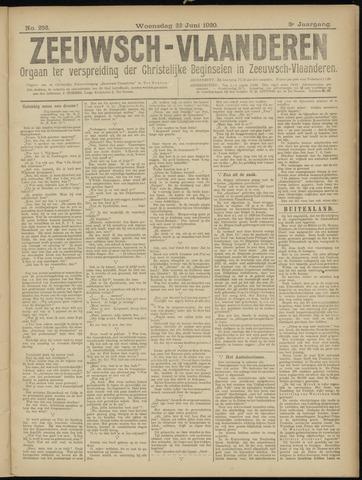 Luctor et Emergo. Antirevolutionair nieuws- en advertentieblad voor Zeeland / Zeeuwsch-Vlaanderen. Orgaan ter verspreiding van de christelijke beginselen in Zeeuwsch-Vlaanderen 1920-06-22