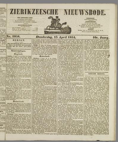 Zierikzeesche Nieuwsbode 1854-04-13