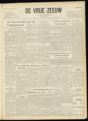 de Vrije Zeeuw 1956-09-27