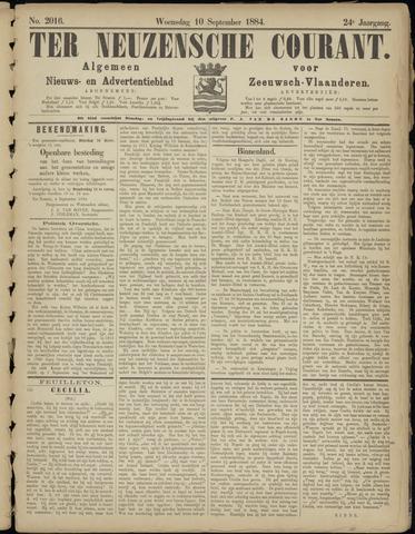 Ter Neuzensche Courant. Algemeen Nieuws- en Advertentieblad voor Zeeuwsch-Vlaanderen / Neuzensche Courant ... (idem) / (Algemeen) nieuws en advertentieblad voor Zeeuwsch-Vlaanderen 1884-09-10
