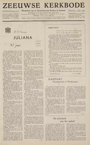 Zeeuwsche kerkbode, weekblad gewijd aan de belangen der gereformeerde kerken/ Zeeuwsch kerkblad 1959-05-01