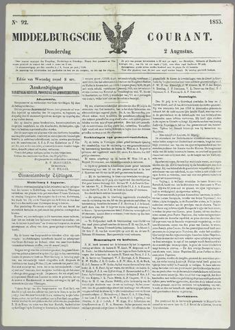 Middelburgsche Courant 1855-08-02
