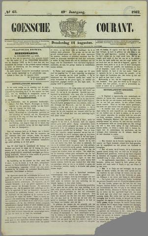 Goessche Courant 1862-08-14