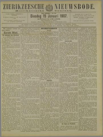 Zierikzeesche Nieuwsbode 1907-01-15
