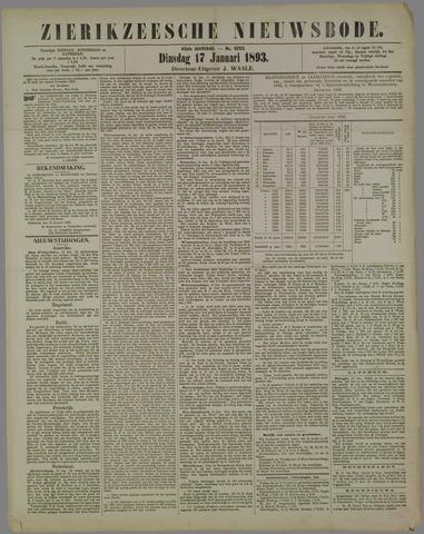 Zierikzeesche Nieuwsbode 1893-01-17