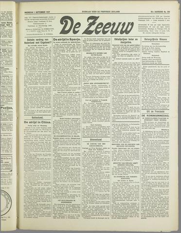 De Zeeuw. Christelijk-historisch nieuwsblad voor Zeeland 1937-09-01