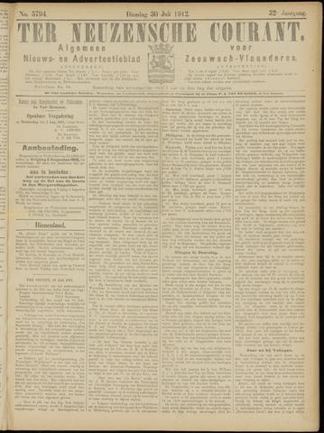 Ter Neuzensche Courant. Algemeen Nieuws- en Advertentieblad voor Zeeuwsch-Vlaanderen / Neuzensche Courant ... (idem) / (Algemeen) nieuws en advertentieblad voor Zeeuwsch-Vlaanderen 1912-07-30