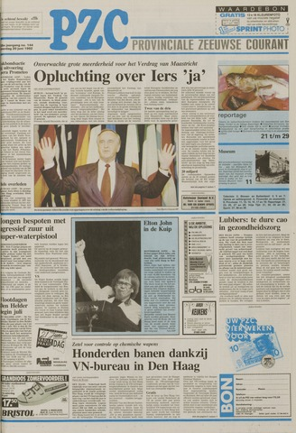 Provinciale Zeeuwse Courant 1992-06-20