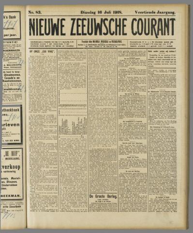Nieuwe Zeeuwsche Courant 1918-07-16