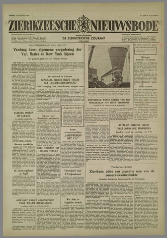 Zierikzeesche Nieuwsbode 1958-08-08