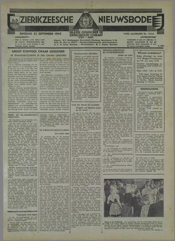 Zierikzeesche Nieuwsbode 1942-09-22