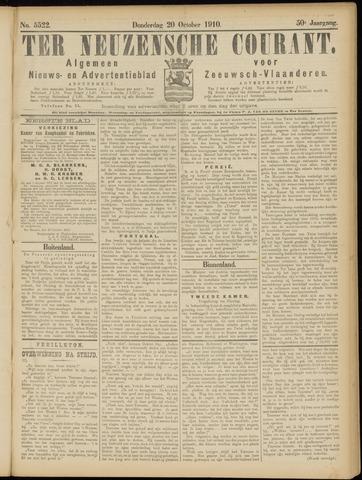 Ter Neuzensche Courant. Algemeen Nieuws- en Advertentieblad voor Zeeuwsch-Vlaanderen / Neuzensche Courant ... (idem) / (Algemeen) nieuws en advertentieblad voor Zeeuwsch-Vlaanderen 1910-10-20