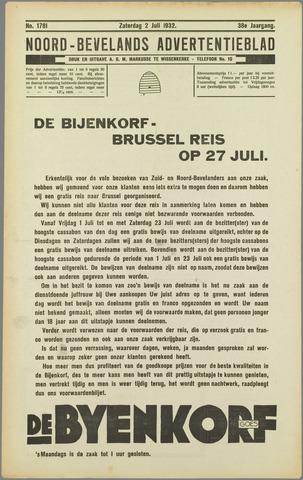 Noord-Bevelands Nieuws- en advertentieblad 1932-07-02