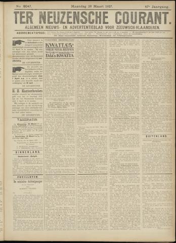 Ter Neuzensche Courant. Algemeen Nieuws- en Advertentieblad voor Zeeuwsch-Vlaanderen / Neuzensche Courant ... (idem) / (Algemeen) nieuws en advertentieblad voor Zeeuwsch-Vlaanderen 1927-03-28