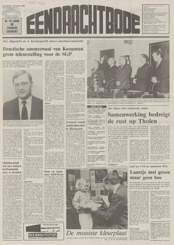 Eendrachtbode (1945-heden)/Mededeelingenblad voor het eiland Tholen (1944/45) 1989-12-07