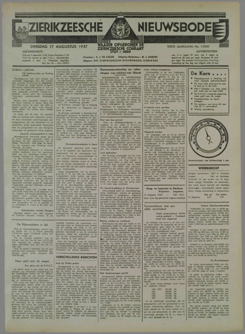 Zierikzeesche Nieuwsbode 1937-08-17