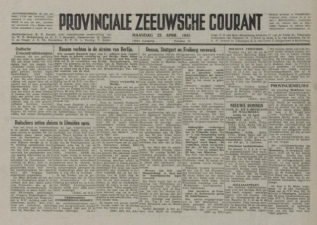 Provinciale Zeeuwse Courant 1945-04-23