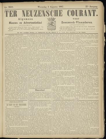 Ter Neuzensche Courant. Algemeen Nieuws- en Advertentieblad voor Zeeuwsch-Vlaanderen / Neuzensche Courant ... (idem) / (Algemeen) nieuws en advertentieblad voor Zeeuwsch-Vlaanderen 1887-08-03