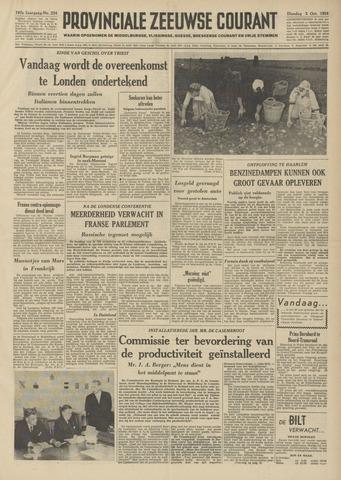 Provinciale Zeeuwse Courant 1954-10-05