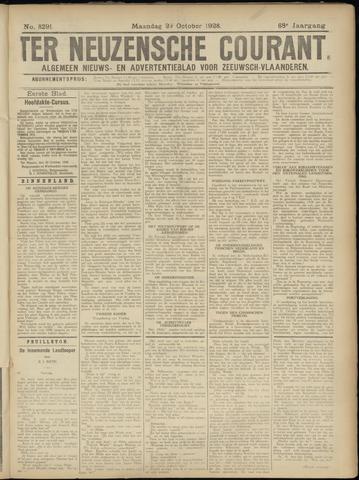Ter Neuzensche Courant. Algemeen Nieuws- en Advertentieblad voor Zeeuwsch-Vlaanderen / Neuzensche Courant ... (idem) / (Algemeen) nieuws en advertentieblad voor Zeeuwsch-Vlaanderen 1928-10-29