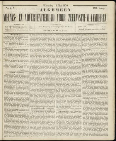 Ter Neuzensche Courant. Algemeen Nieuws- en Advertentieblad voor Zeeuwsch-Vlaanderen / Neuzensche Courant ... (idem) / (Algemeen) nieuws en advertentieblad voor Zeeuwsch-Vlaanderen 1870-05-11