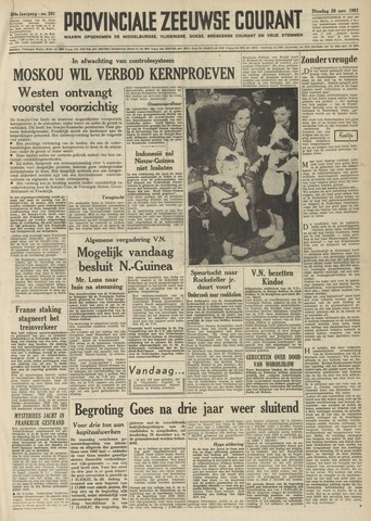 Provinciale Zeeuwse Courant 1961-11-28