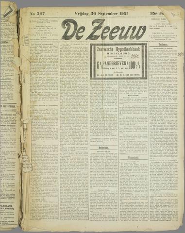De Zeeuw. Christelijk-historisch nieuwsblad voor Zeeland 1921-09-30