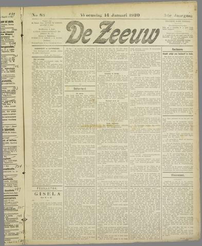 De Zeeuw. Christelijk-historisch nieuwsblad voor Zeeland 1920-01-14