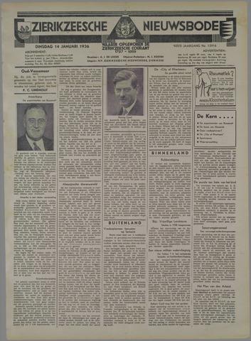 Zierikzeesche Nieuwsbode 1936-01-14