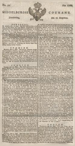 Middelburgsche Courant 1768-08-18