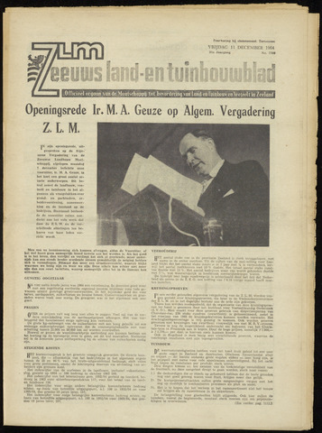 Zeeuwsch landbouwblad ... ZLM land- en tuinbouwblad 1964-12-11