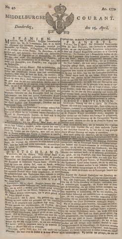 Middelburgsche Courant 1779-04-15