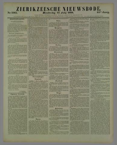 Zierikzeesche Nieuwsbode 1888-07-12