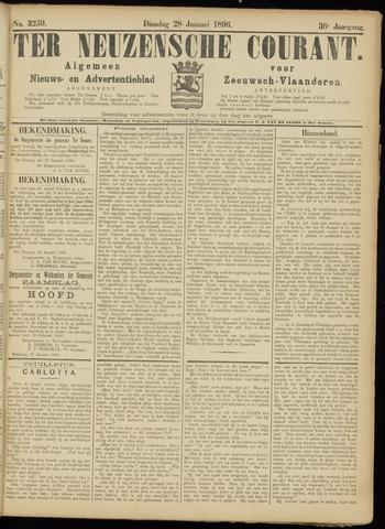 Ter Neuzensche Courant. Algemeen Nieuws- en Advertentieblad voor Zeeuwsch-Vlaanderen / Neuzensche Courant ... (idem) / (Algemeen) nieuws en advertentieblad voor Zeeuwsch-Vlaanderen 1896-01-28