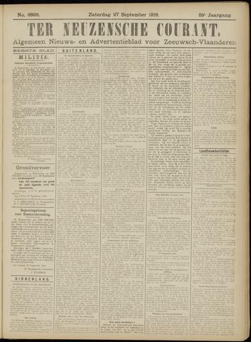 Ter Neuzensche Courant. Algemeen Nieuws- en Advertentieblad voor Zeeuwsch-Vlaanderen / Neuzensche Courant ... (idem) / (Algemeen) nieuws en advertentieblad voor Zeeuwsch-Vlaanderen 1919-09-27