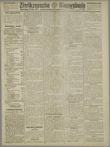 Zierikzeesche Nieuwsbode 1917-10-24