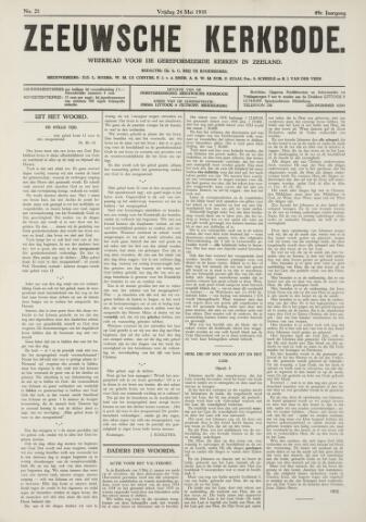 Zeeuwsche kerkbode, weekblad gewijd aan de belangen der gereformeerde kerken/ Zeeuwsch kerkblad 1935-05-24