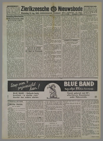Zierikzeesche Nieuwsbode 1932-08-10