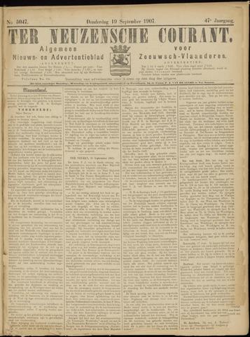 Ter Neuzensche Courant. Algemeen Nieuws- en Advertentieblad voor Zeeuwsch-Vlaanderen / Neuzensche Courant ... (idem) / (Algemeen) nieuws en advertentieblad voor Zeeuwsch-Vlaanderen 1907-09-19