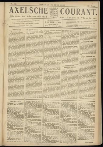 Axelsche Courant 1936-07-28