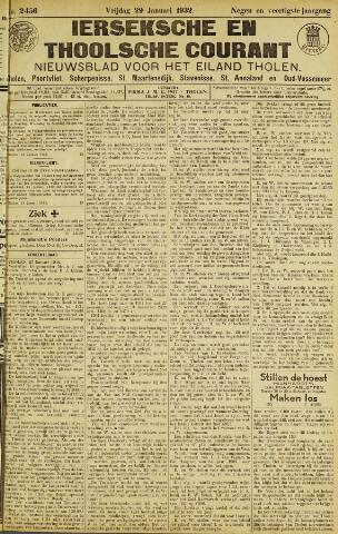 Ierseksche en Thoolsche Courant 1932-01-29