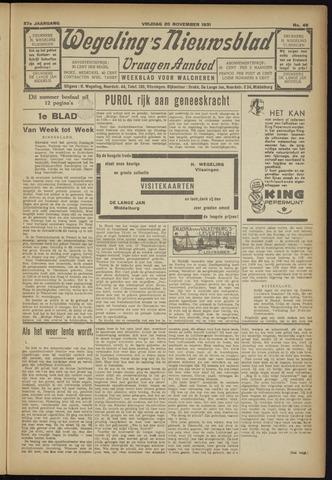 Zeeuwsch Nieuwsblad/Wegeling's Nieuwsblad 1931-11-20