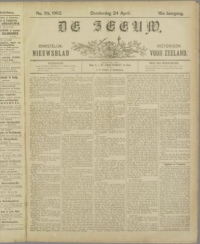 De Zeeuw. Christelijk-historisch nieuwsblad voor Zeeland 1902-04-24